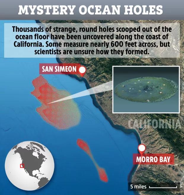 15,000多个神秘海底巨洞惊现加州海岸线
