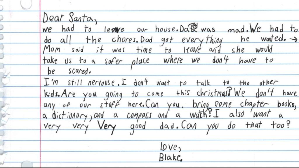 德州男孩对圣诞老人许愿:想要个好爸爸