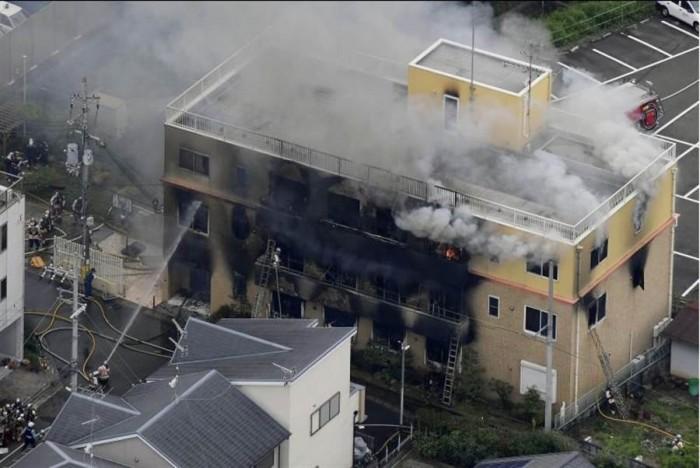 """""""京阿尼""""被烧工作室主体建筑开拆 预计2020年春季完工"""