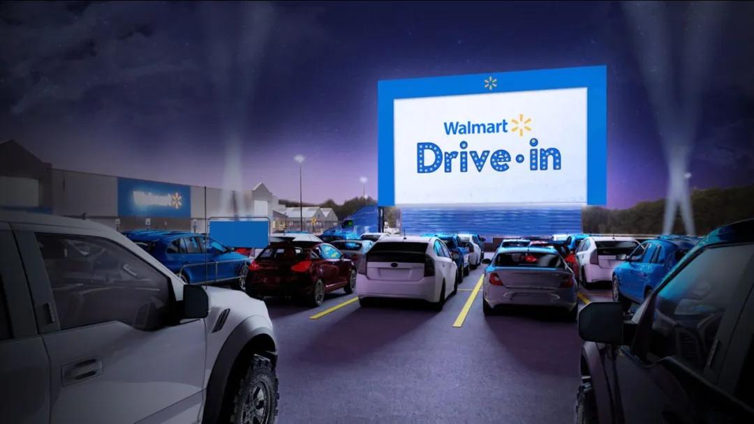 Walmart计划将其停车场改造成汽车影院,购物娱乐两不误