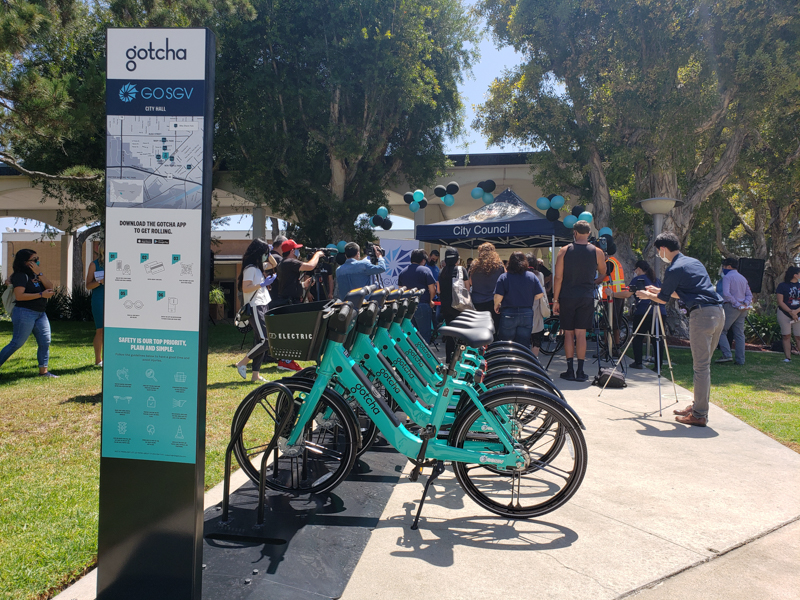 圣盖博谷政府联盟推出共享电动自行车计划