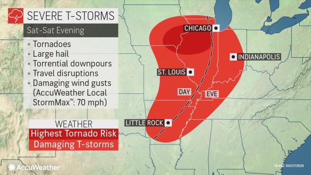 美国中西部地区近日遭到一系列严重风暴侵袭
