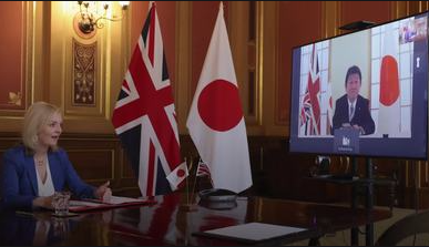 英国11号宣布与日本签订自由贸易协定
