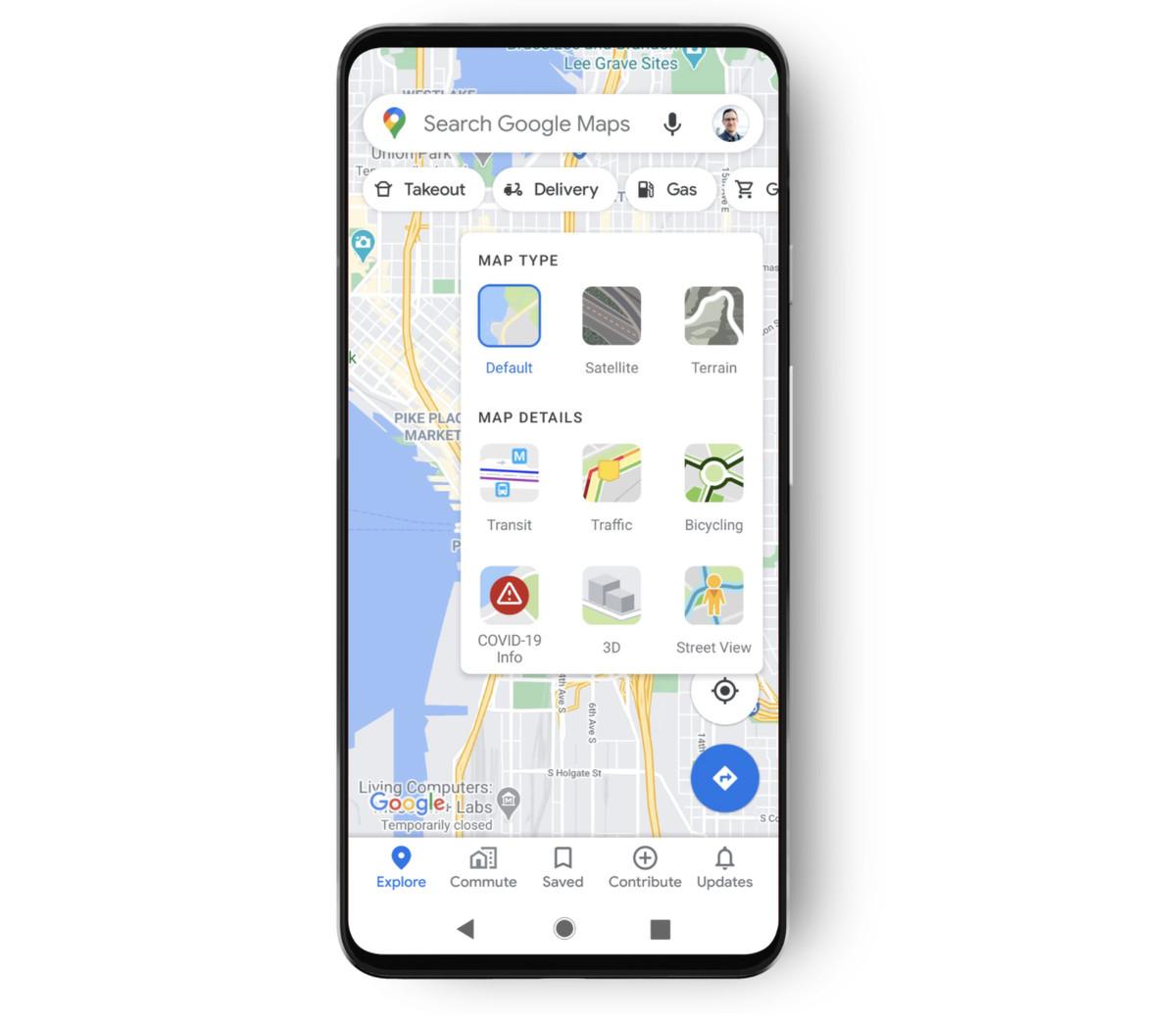 谷歌地图新增新冠疫情地图选项