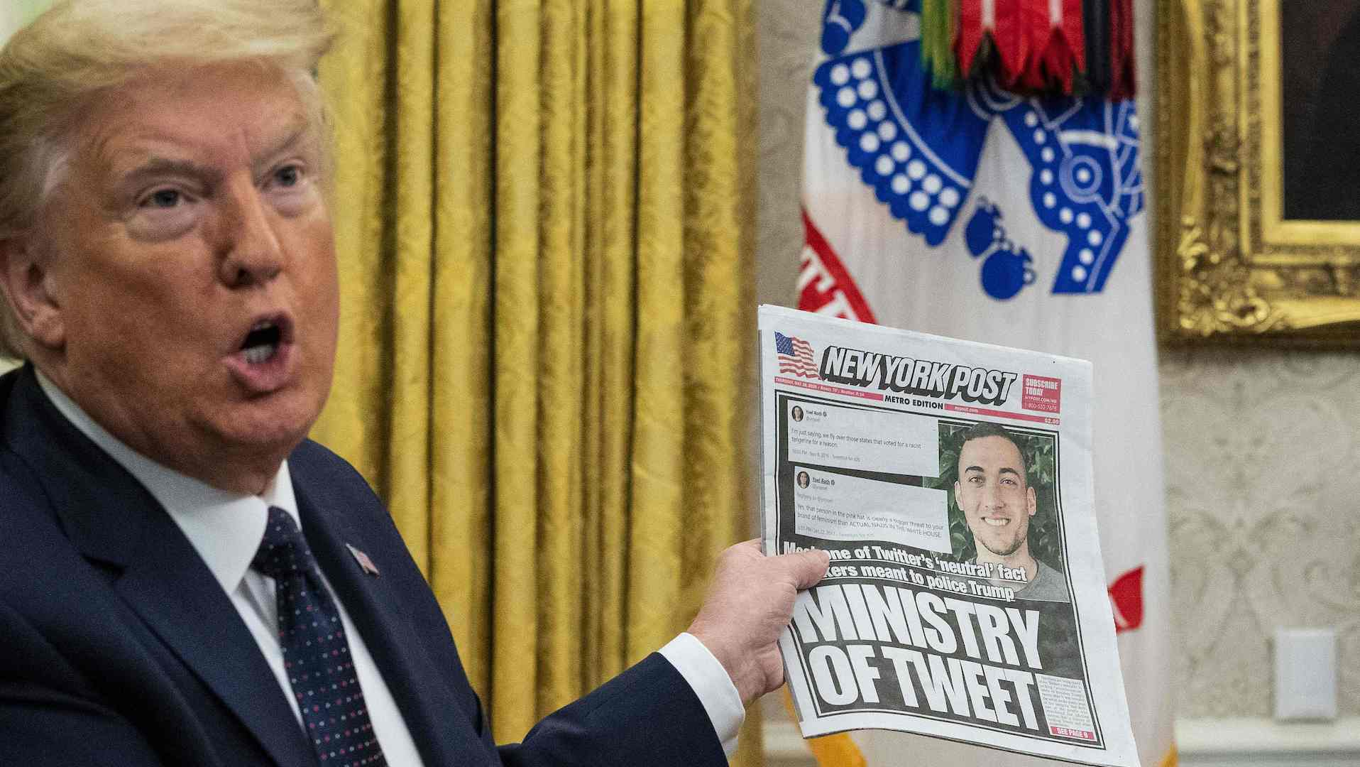 特朗普:对涉嫌审查保守派用户的社群媒体网站采取法律行动