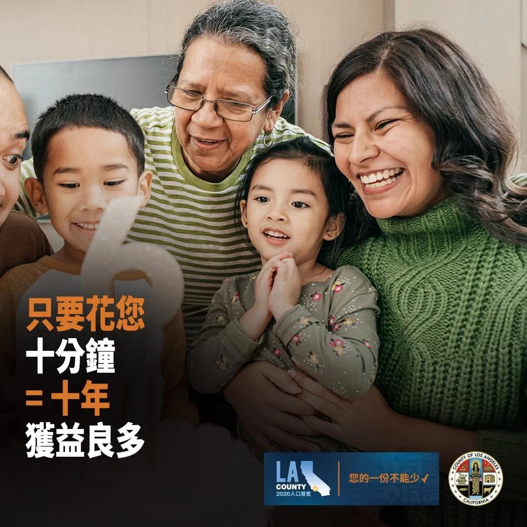 洛杉矶县政务委员赞扬恢复人口普查截止日期;敦促县民今天就做出答覆