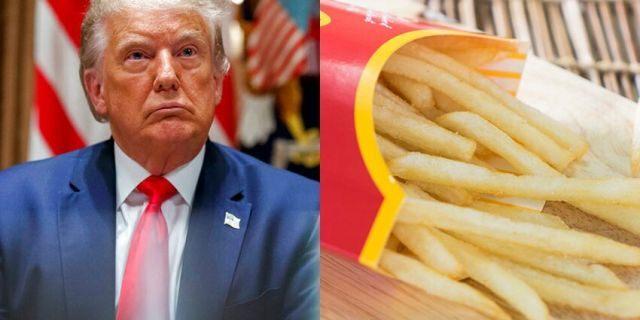 """特朗普公布不掉发的秘诀就是""""爱吃麦当劳薯条"""""""