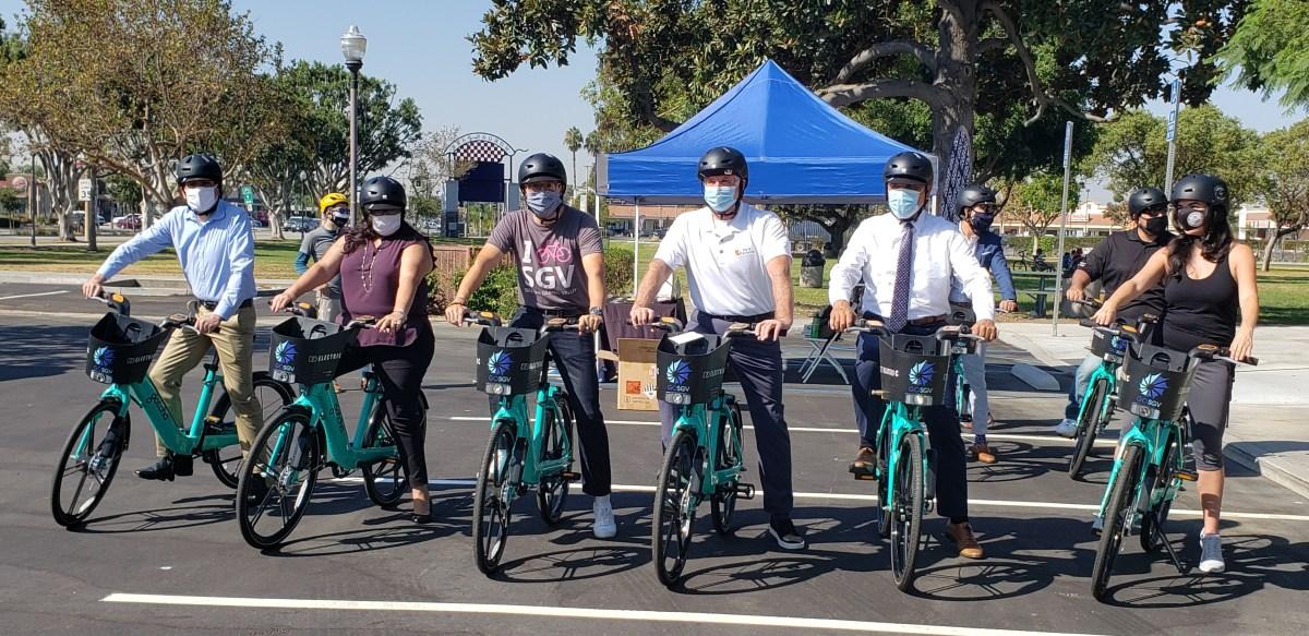 鲍德温公园举行共享单车启用典礼