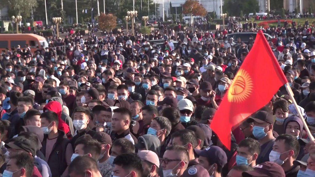 吉尔吉斯国会选举后爆发反政府示威