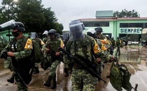 墨西哥为防戴尔塔飓风破坏,动员数以千计的军人防灾