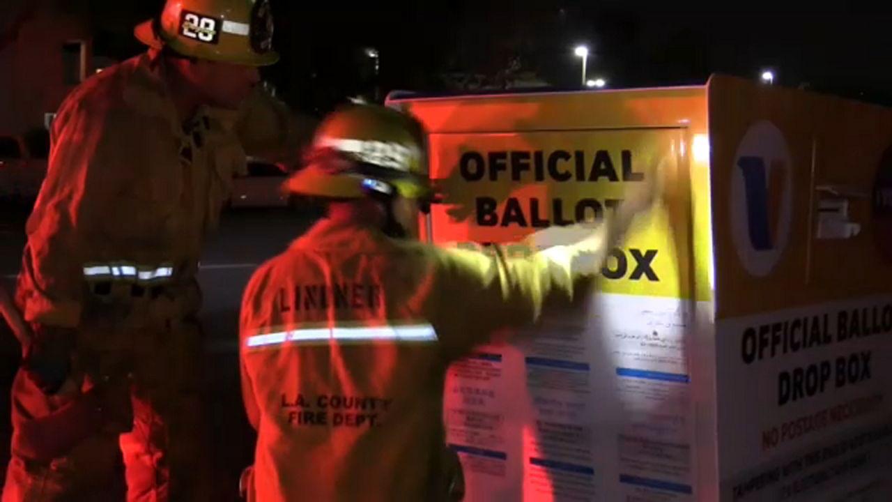 鲍德温公园官方投票箱遭人蓄意点燃