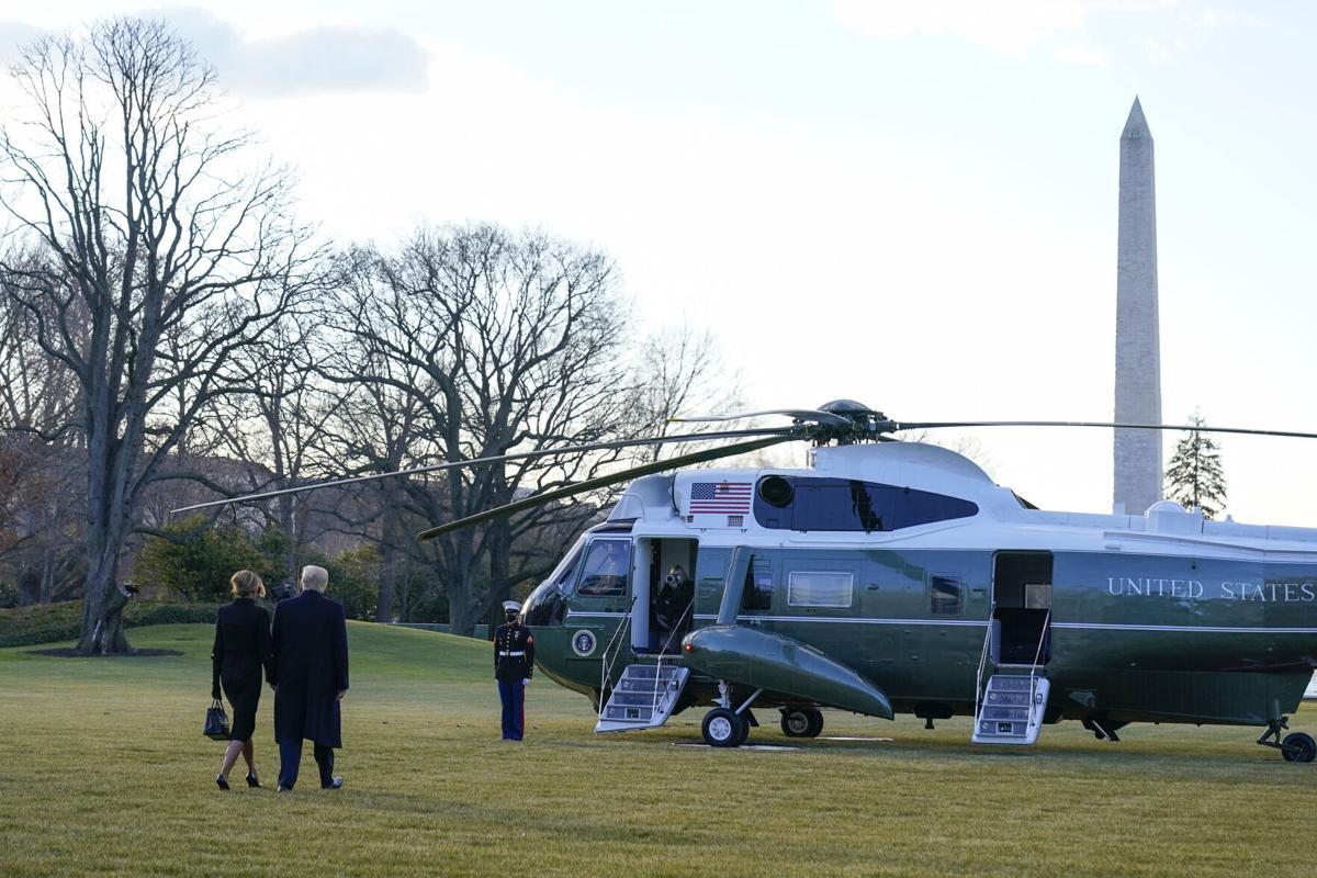 特朗普周三早间离开白宫未参加拜登就职典礼
