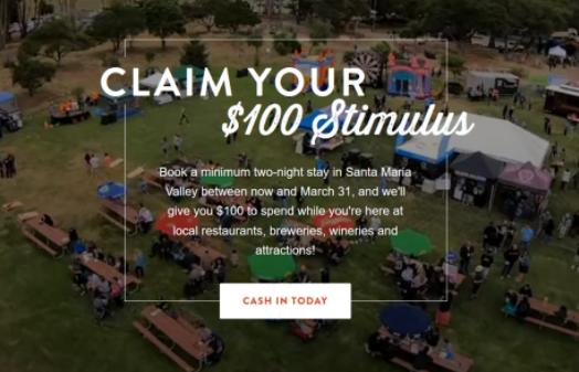 南加州圣玛丽亚市为吸引游客直接发100美元
