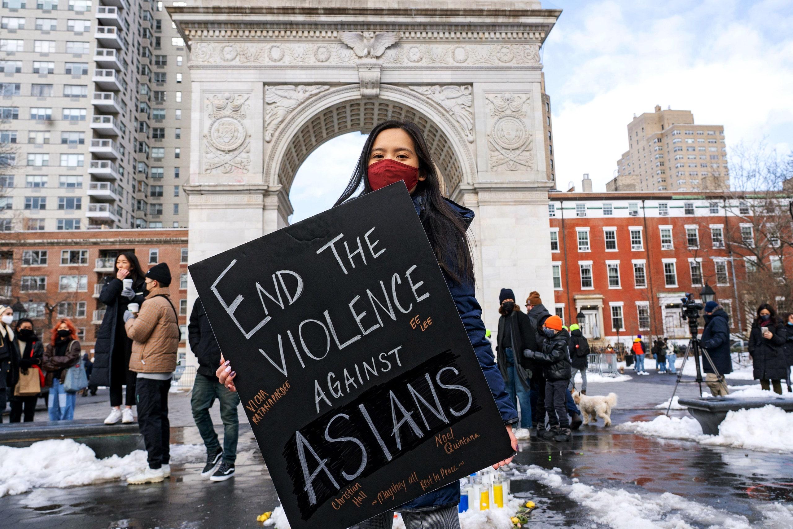 过去一年内,反亚裔仇恨犯罪在美国主要城市激增150%