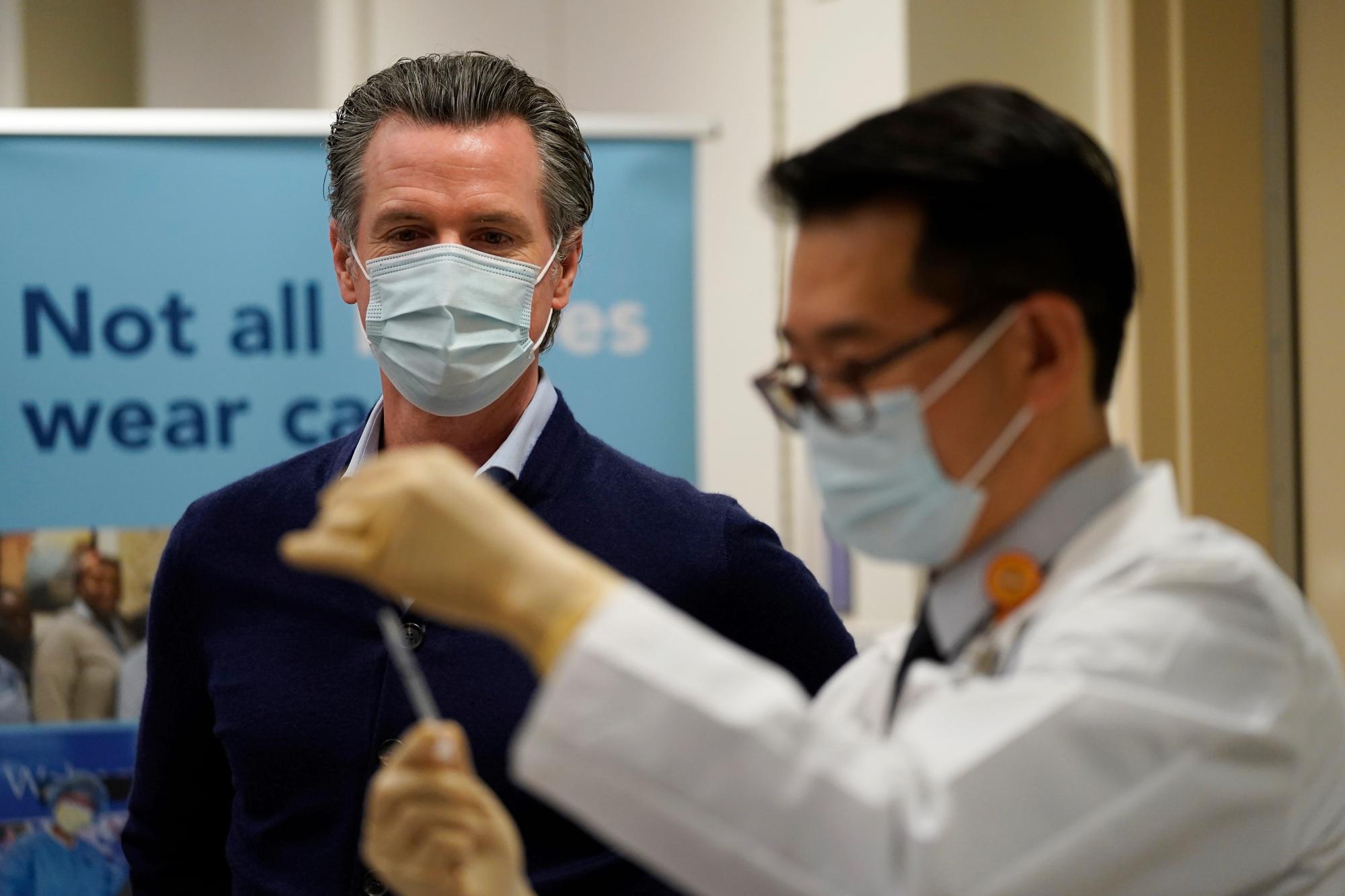 加州州长纽森:实现群体免疫这个目标仍有些虚幻