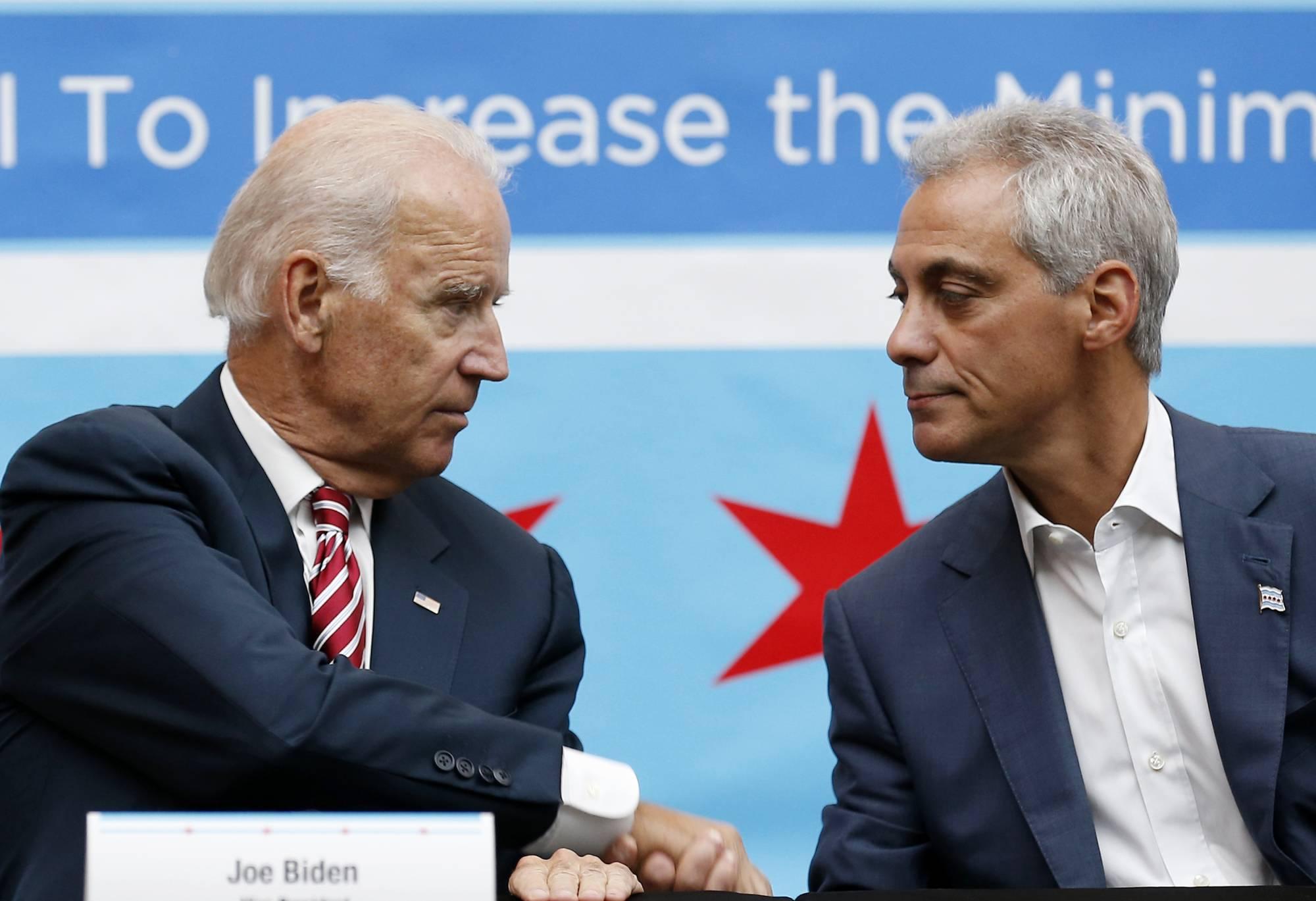 拜登将任命前芝加哥市长伊曼纽尔担任驻日大使