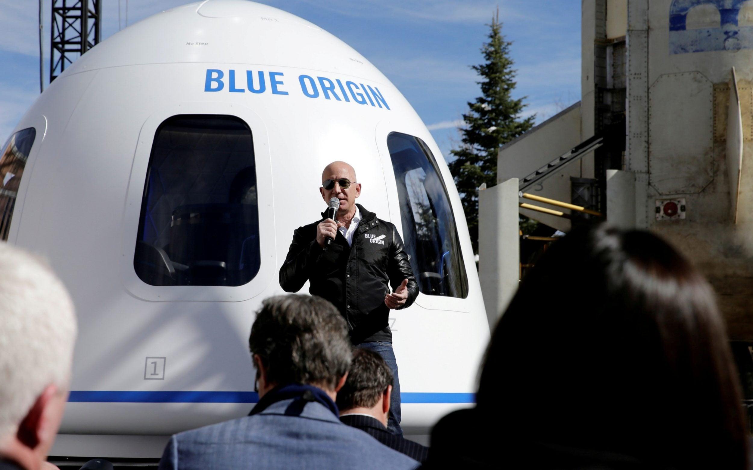 """亚马逊CEO宣布旗下太公公司""""蓝色起源"""" 将开启首个客运航班"""