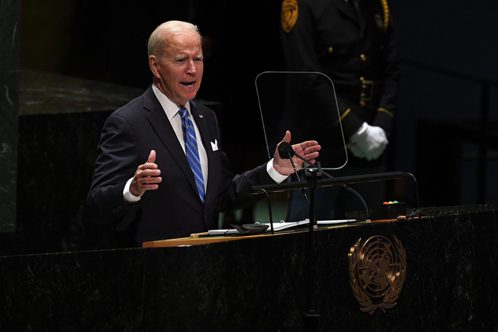 """拜登在联合国演讲中宣布美国外交的""""新时代"""""""